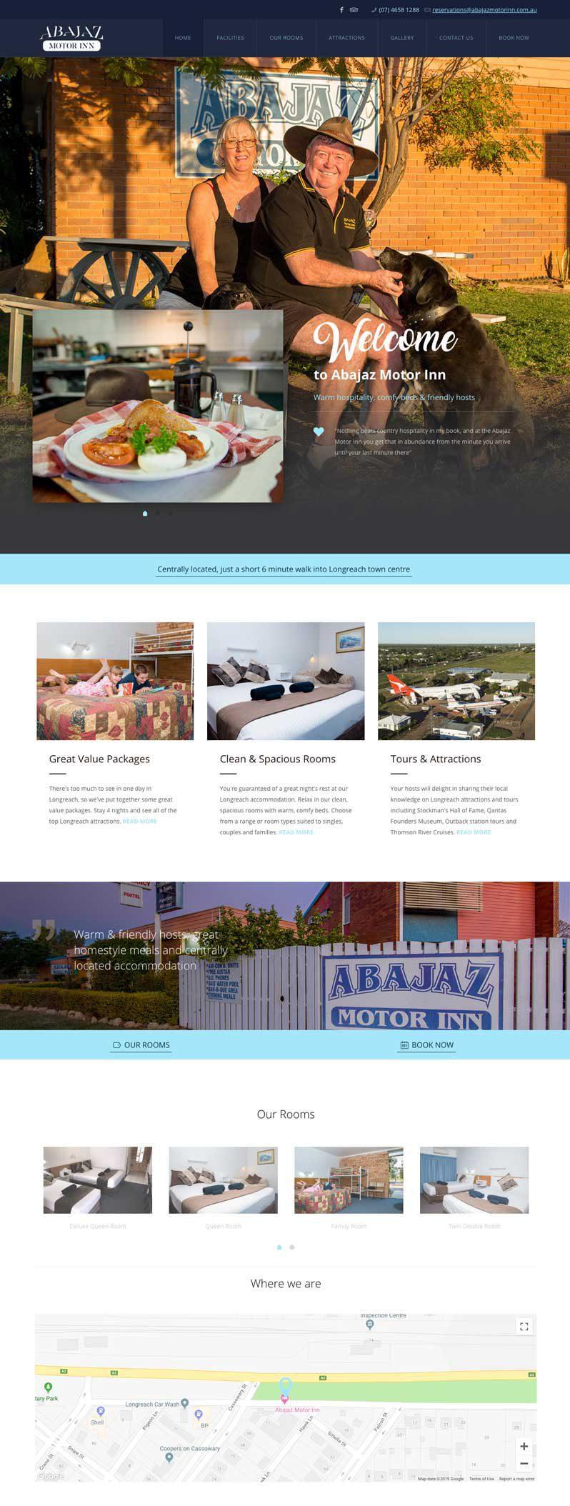 Abajaz Motor Inn website design