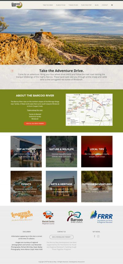 Barcoo Way website screenshot