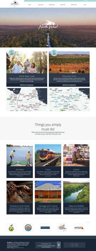 Drive North West Queensland website design