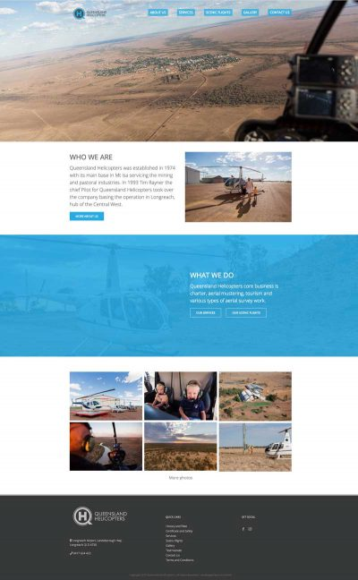 Queensland Helicopters website design