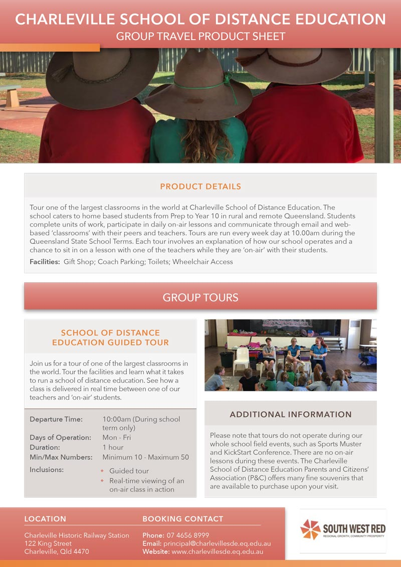 Charleville School of Distance Education product sheet preview