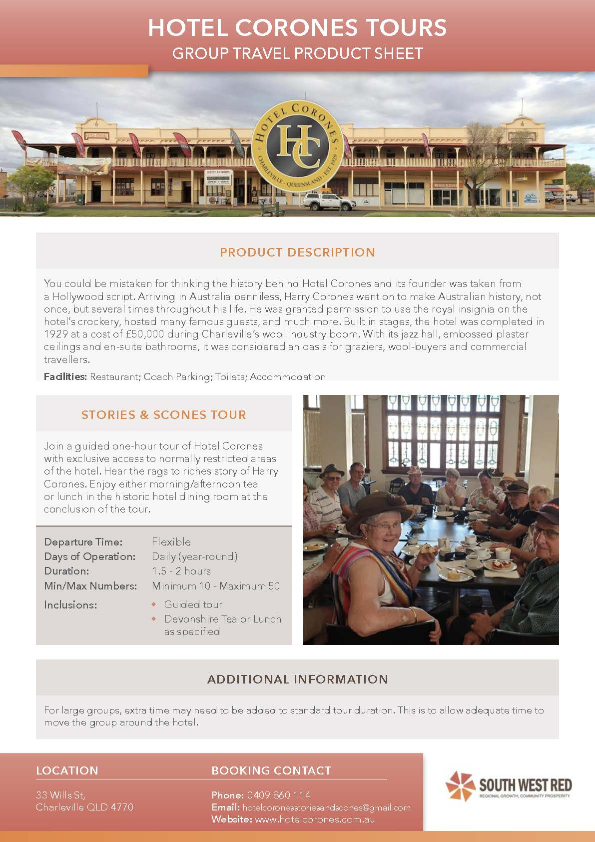 Hotel Corones Product Sheet Preview