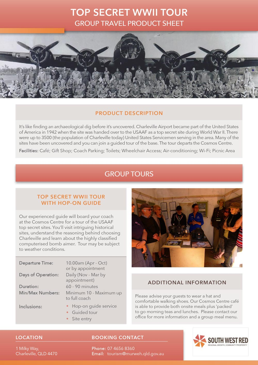 WWII Tour product sheet preview